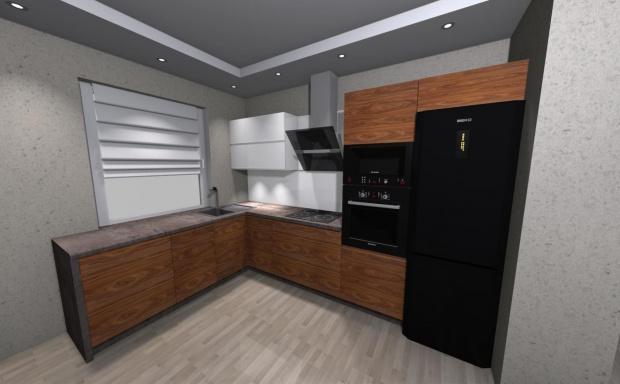 Jaka Podłoga Do Szaro Biało Brązowej Kuchni Projektowanie
