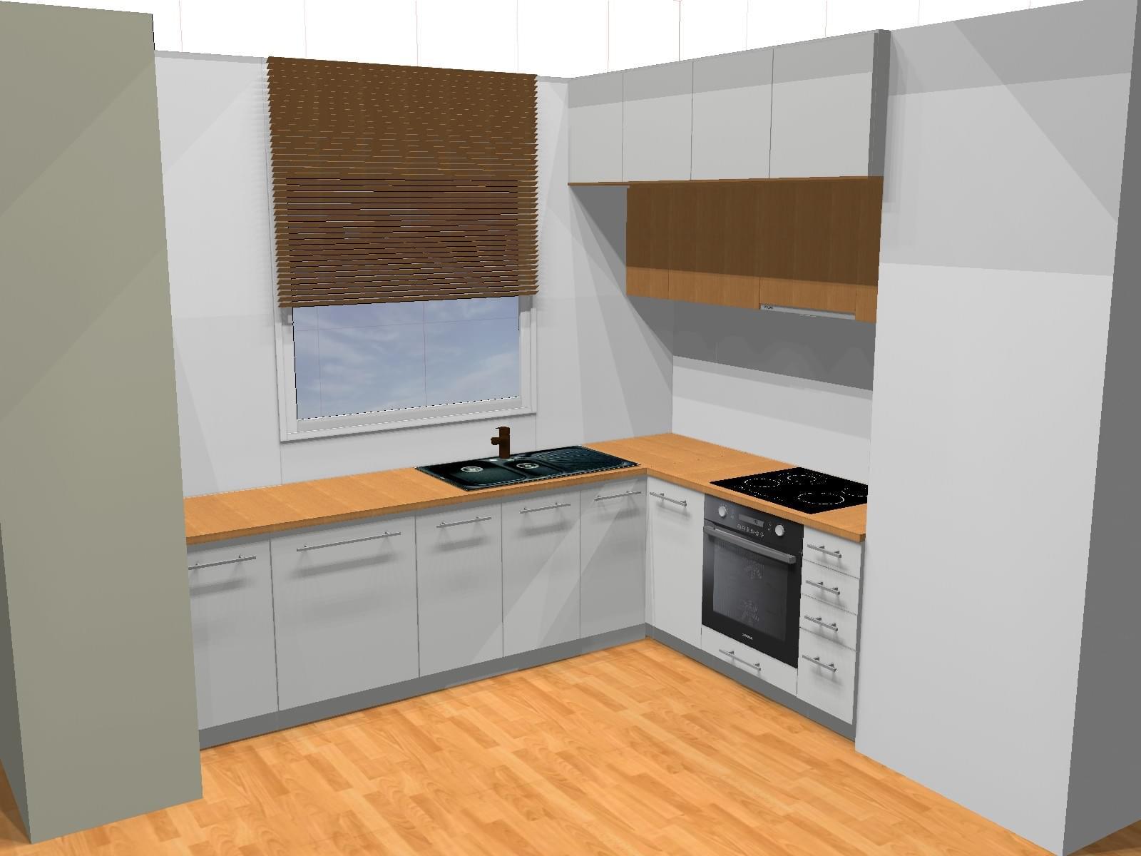 Projekt kuchni wizualizacje projektowanie wn trz for Polaczenie kuchni z salonem
